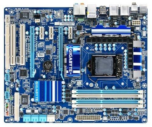 Gigabyte GA-P55A-UD4 Mainboard Sockel Intel 1156 P55 DDR3 Speicher ATX