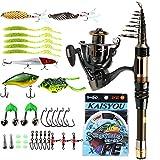 Sougayilang Mini Spinning Fishing Rod and Reel Combos Portable Pocket Telescopic Fishing Pole...