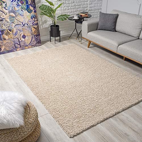 Impression Wohnzimmerteppich - Hochwertiger Öko-Tex zertifizierter Flächenteppich - Solid Color Teppich Beige - Größe 120x170