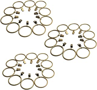 ZXHAO 4.0x50mm Metal Curtain Rings with Clips - Bronze 30pcs