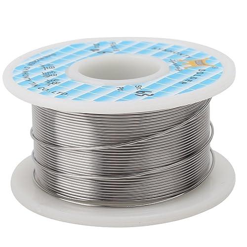 1x 0.6mm Rollo de Alambre Cable Soldadura Soldar Estaño FLUX 1.8%