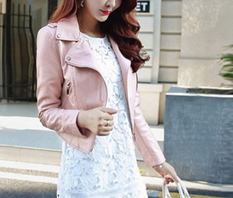 Fashion Short Dress Women's Spring and Autumn New Coat Lapel Pink Black Jacket SEDD