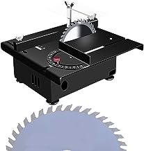 dami Precisión Sierra De Mesa,Eléctrico Sierra De Banco 100W con Hoja De Sierra,Corte En Ángulo De 0-90 °,Velocidad Variable 0-10000 RPM,para Bricolaje Modelo