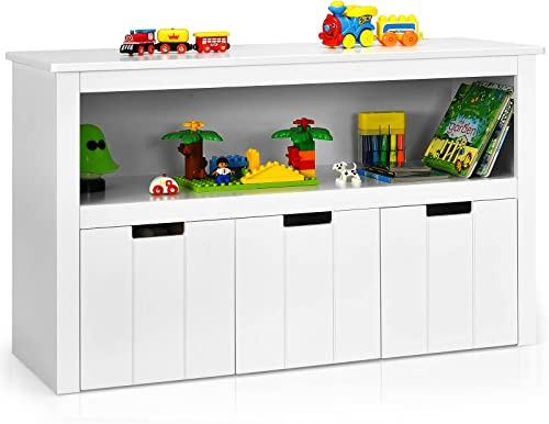 popular Giantex Storage Cabinet with 3 Removable Drawers, Rolling Wheels and Open Shelf, Toy Organizer, Large Storage Bins, Floor Cabinet for Living outlet sale Room, Bedroom, Toddler's sale Room, Playroom Kids Drawer Chest outlet online sale