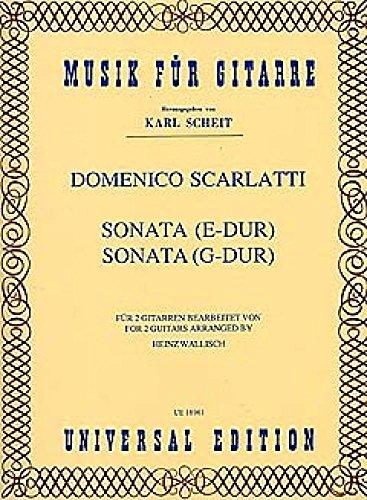 Sonate E-Dur + G-Dur. Gitarre