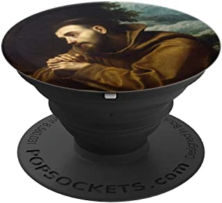 St Francis of Assisi Catholic Saint Italian Friar Holy Icon - PopSockets Grip and Stand for Phones and Tablets