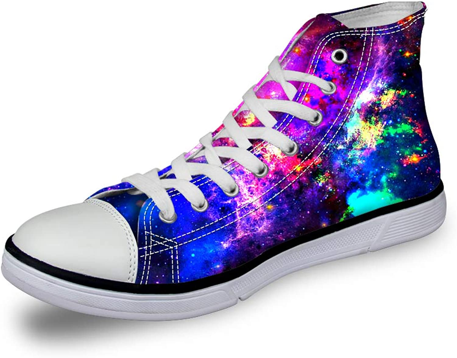 Instantarts Women's High Top Galaxy Casual Canvas Fashion shoes Trainers Sneaker