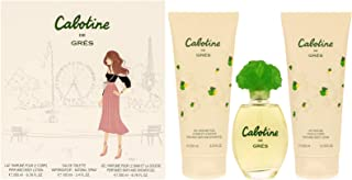 Cabotine By Parfums Gres For Women. Set-edt Spray 3.4 OZ & Body Lotion 6.7 OZ & Shower Gel 6.7 OZ