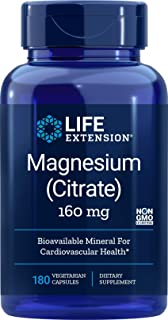 Life Extension Magnesium Citrate 160 mg, 180 Veg Caps