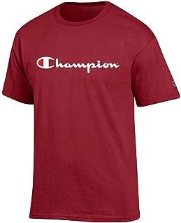 Champion Script Logo Men's (Cardinal Red) Short Sleeve T-Shirt