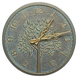 16 in. Cottage Wall Clock in Bronze Verdigris
