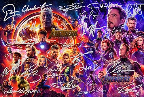 Póster Los Vengadores Infinity Guerra firmada PP