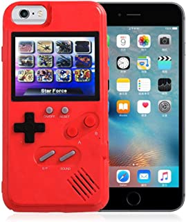 Gameboy Phone Case Tetris Video Game Console Case For IPhone 6 Plus/6s Plus, Shockproof Case 36 Games Nostalgia Color Screen Stress Relief Protective Cover Gameboy Childhood Gift For Kids Boys Girls