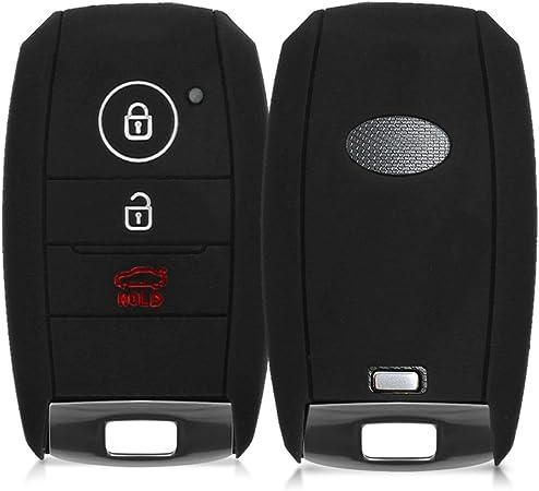 Kwmobile Autoschlüssel Hülle Kompatibel Mit Kia 3 Tasten Smartkey Autoschlüssel Silikon Schutzhülle Schlüsselhülle Cover In Schwarz Auto