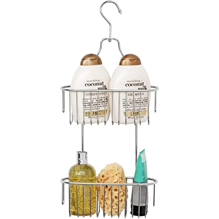 simplywire - 2 Tier Hanging Shower Caddy - Rust Resistant - Chrome