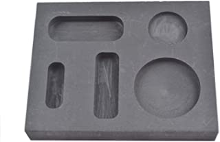 OTOOLWORLD Graphite Casting Ingot Mold Metal Refining Scrap Bar Coin Combo 1/4 1/2 1 oz