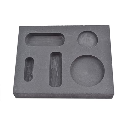 TRADITIONAL STYLE 7 DIFFERENT GOLD//SILVER INGOTS ON CUBE 7-IN-1 GRAPHITE MOLDS