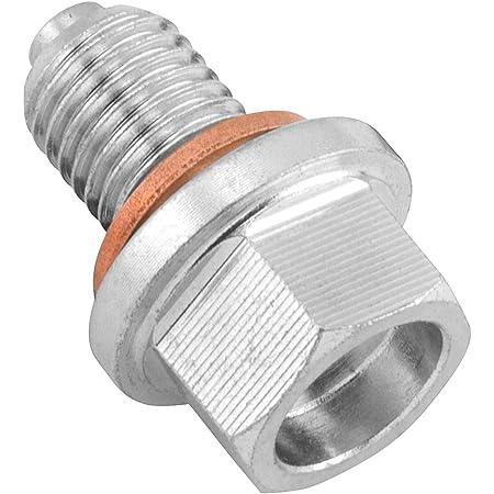 P1.5 Silver Magnetic Oil Drain Plugs Bolt Replace 92066-0038,KX450F 2006-2015,KLX450R 2008-2009 NICECNC 10mm
