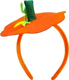 Halloween Pumpkin Headband Halloween Costume - Halloween Dress Up Headband Pumpkin Headwear Pumpkin Headdress Orange