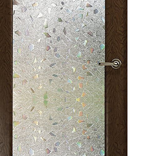 WPT Frosted Window Film Self-Adhesive Privacy Stained Glass Window Film (17.7 X 78.7 Inches)