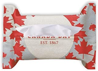 Canada Day 4th of July EST 1867 Maple Leaf Paper Towel Facial Tissue Bag Napkin Bumf