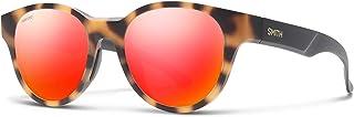 Smith Snare 2010452MN51OZ Unisex Matte Honey Tortoise Frame Polarized Red Mirror Lens Round Sunglasses