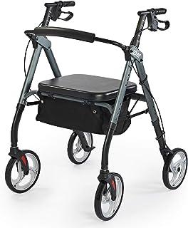 Zler Heavy Duty Rollator Walker 500 lbs - Bariatric Rollator Walker with Extra Wide Padded Seat for Seniors,Folding Rollin...
