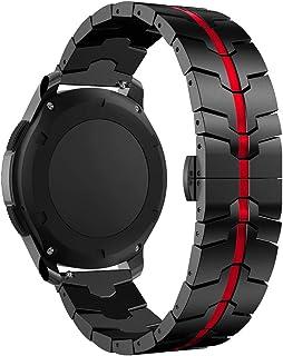 RABUZI - Correa para reloj Samsung Galaxy de 46 mm, acero in