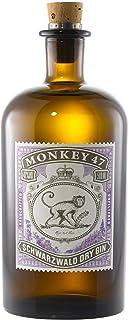 Monkey 47 Schwarzwald Dry Gin – Harmonischer Gin mit Wacholderaroma & frischen Zitronen- und Fruchtnoten – Britische Tradition, indische Exotik & Schwarzwälder Handwerk – 1 x 0,5 L