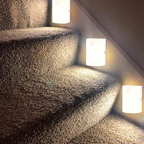 2 Stück Nachtlicht LED Induktionslampe für Treppe für Flur