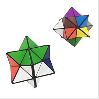 Infinite Magic Star Folding Cube 2 in 1 set  Maze Puzzle Stellated Rhombic Dodecahedron Transforming Anti-stressToy for Kids Adult