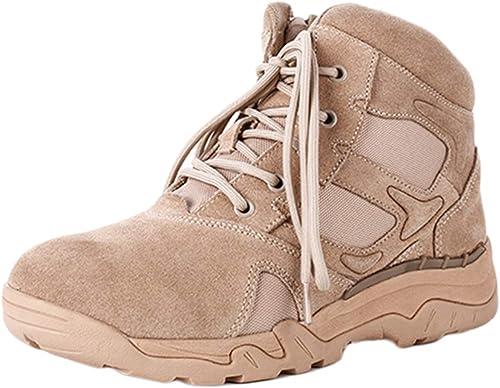 Liabb Stiefel Militares para el Desierto de los herren Stiefel de Combate Patrulla del ejército Armado Calzado táctico Calzado con Cordones Selva Práctico,SandFarbe,39