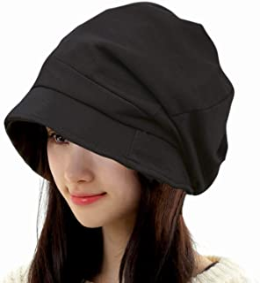 FireflyShop レディース キャスケット 大きめ サイズ調節可 ダウンハット 帽子 折りたたみ可 オールシーズン 日よけ 医療用