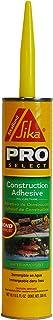 Sika 106403 Corporation Bond Polyurethane Construction Adhesive, Gray, 10.1 oz Cartridge