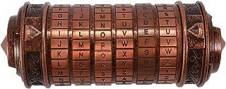 Eookall Code Locks,Retro Birthday Valentine Gift Box Cylinder Lockbox Da Vinci Code Alphabet Locks