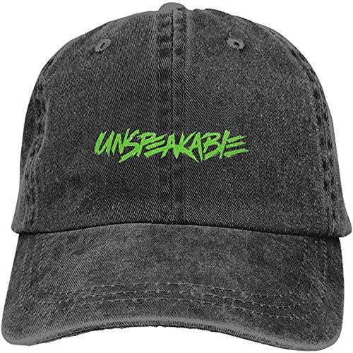 Unspeakable - Gorra de béisbol ajustable de algodón lavado vintage para papá, color negro