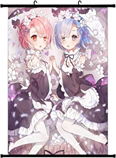 Aristory Japan Anime Re Zero Rem and Ram Poster Wall Scroll Art Home Decor Gifts(H01)