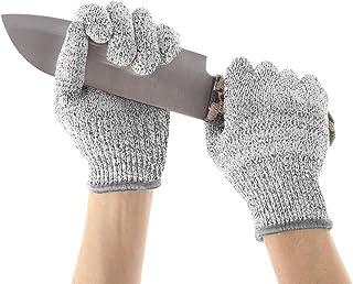 1 S Acier inoxydable Maille m/étallique Gant de niveau 5 r/ésistant aux coupures Durable Boucher Gant de Cuisine Hacher la Viande Poisson Verre gris