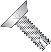 18-8 Stainless Steel Thread Cutting Screw, Plain Finish, 82 Degree Flat Undercut Head, Phillips Drive, Type 23, #10-24 Thread Size, 1/2