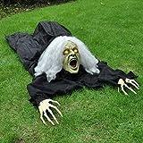 Halloween Bruja-Romper-el Suelo Decoración con Efecto de Sonido, Diseño con Función de Activación de Movimiento y Sonido, las Mejores Decoraciones de Halloween Casa Embrujada al Aire Libre