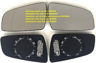 DANDANdianzi 1Z1857522F 6Q0857522K Lado Derecho Espejo retrovisor de Coche de Cristal de reemplazo Blanca para Polo 2005-2009