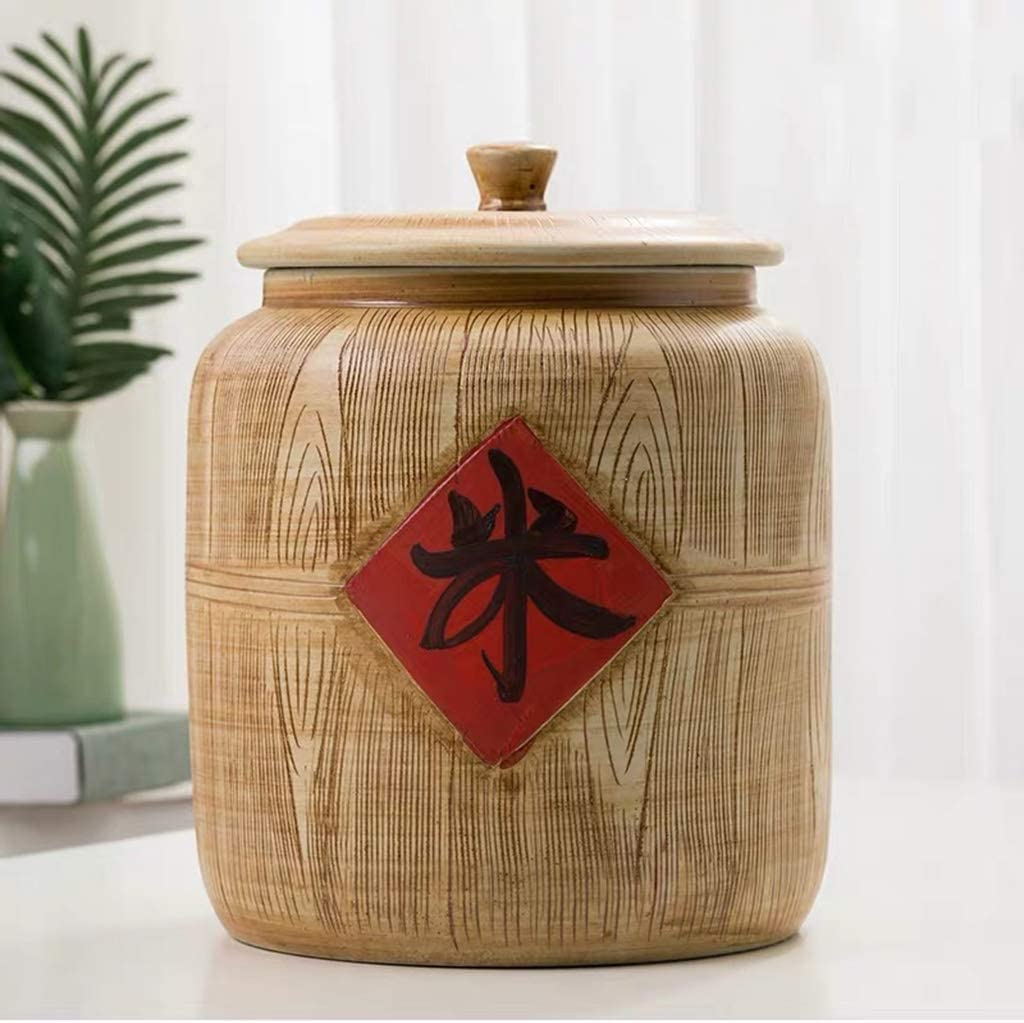 Retro Ceramic Industry No. 1 Cereal Storage Ranking TOP5 Container D Porcelain Grain Chinese