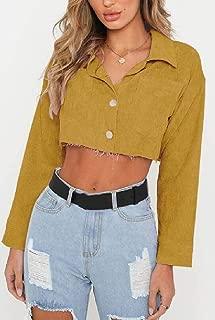 Womens Button Down Loose Spring Crop Denim Jacket Jeans Coat