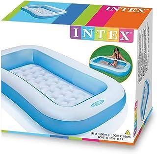 Intex Piscina para bebes Pequena piscina para ninos Piscina rectangular 166 x 100 x 28 cm