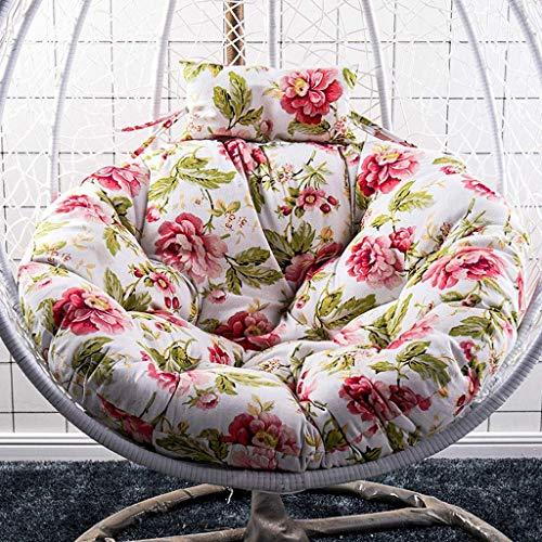ZHAS Egg Hammock Chair Cushion Swing Chair Kissenpolster Egg Shaped Chair für Gartenterrassenmöbel, 90x120cm (Farbe: D)(Ohne Stuhl)(Ohne Stuhl)