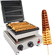 Lolly Stick Waffle Maker ALDKitchen 110V Commercial Quality, Teflon Coated Non-Stick, Stainless Steel (FOUR BIG)