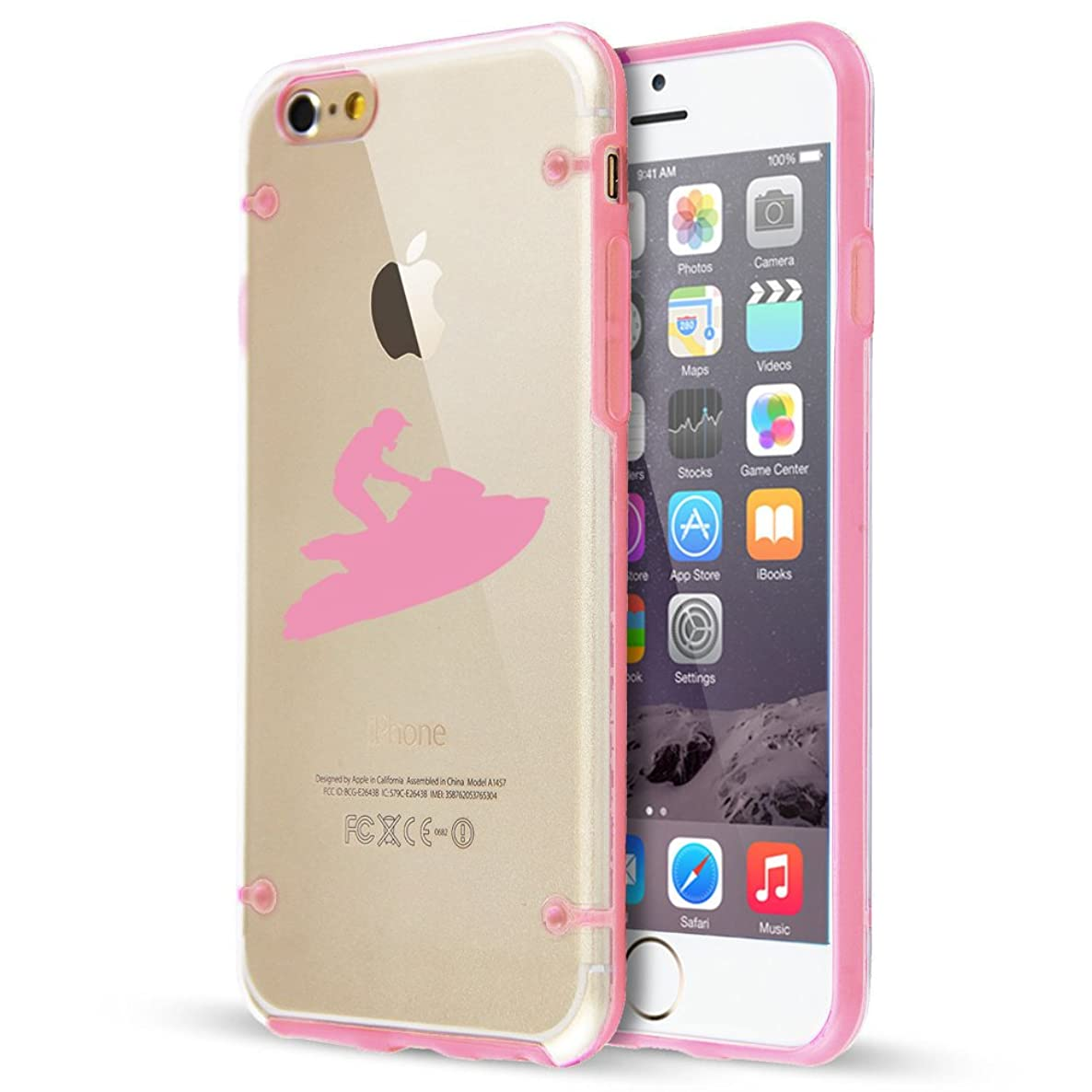 For Apple iPhone Ultra Thin Transparent Clear Hard TPU Case Cover Jet Ski (Light Pink For iPhone 7 Plus)