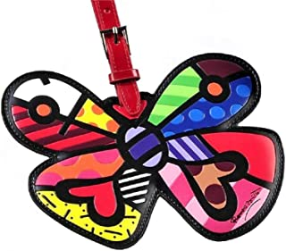 Romero Britto Butterfly Heart Luggage Tag