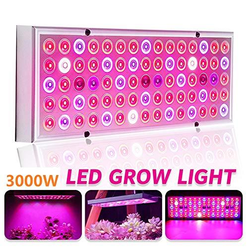 MZSG 3000W LED Pflanzenlicht-Wachstumslampe, AC85-265V, Vollspektrum-LED-Wachstumslichter, für Zimmerpflanzen, Saatgut, Zucht, Gemüse, Blumen