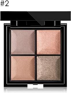 4 Tipos 4 Colores Sombra de Ojos Impermeable y de Larga Duración, Paleta de Sombra de Ojos en Polvo de Mate y Brillo(2#)